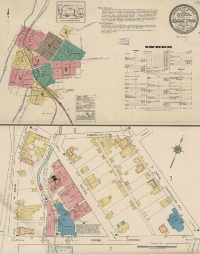 Roraing Springs, Pennsylvania~Sanborn Map© 27 maps~1894 to 1922~in full color