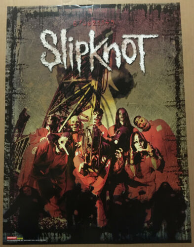 SLIPKNOT Ultra Rare ALTERNATE ART PROMO POSTER for 1999 CD USA 18x24 MINT USA