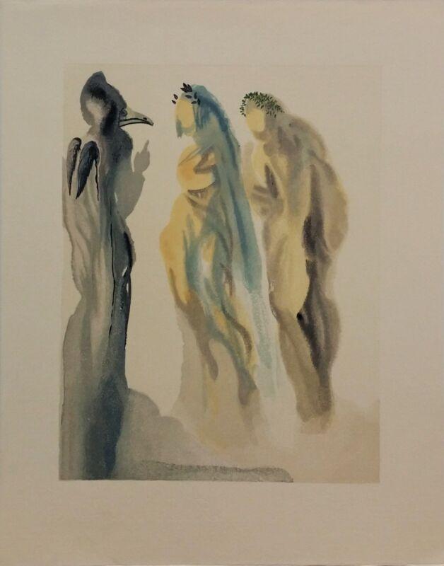 "Salvador Dali ""paradise Canto 9"" | Rare Woodlock Print | Others Avail | Gallart"