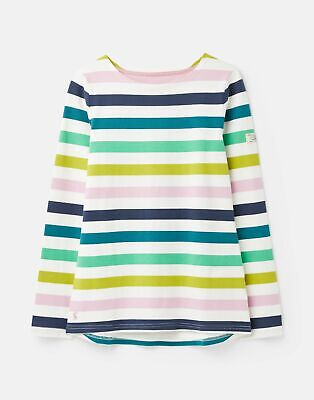 Joules  209697 Long Sleeve Jersey Top Shirt - LILAC STRIPE