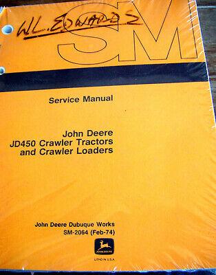 John Deere Jd 450 Jd450 Crawler Tractor Loader Technical Service Manual Sm-2064
