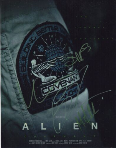 ALIEN COVENANT CAST SIGNED PHOTO 11X14 MICHAEL FASSBENDER KATHERINE AUTOGRAPH