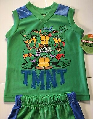 Teenage Mutant Ninja Turtles Outfit (New Teenage Mutant Ninja Turtles TMNT Boys Baby Toddler Shorts and Shirt)