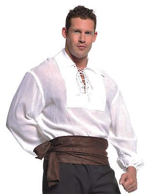 Pirate Shirt White Adult Male Halloween Costume - Adult Male Pirate Costumes