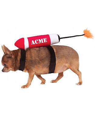 Acme Dynamite Rakete Schiff Lustiges Halloween Haustier-Kostüm