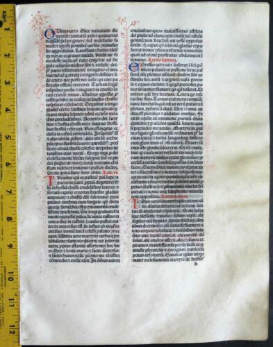 Extremely rare incunabula,Breviary lf.vellum,8 handpt.initials,Jenson,1478 #N7