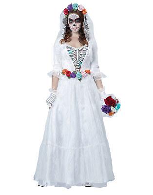 La Novia Muerta Dead Bride Day Of The Dead Womens Halloween Costume - Halloween Costumes Bride Of The Dead