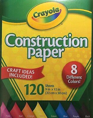 Crayola Bauarbeiten Gefärbt Handwerk Papier, 8 Verschiedene Farben, 120 Blätter