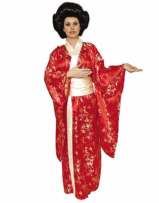 Kimono Red Geisha Costume Adult Womens Halloween Costume