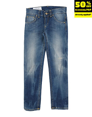 DONDUP Jeans Size 8Y Faded Effect Made in Italy