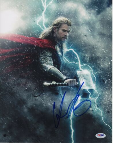 CHRIS HEMSWORTH SIGNED AVENGERS INFINITY WAR PHOTO 11X14 THOR AUTOGRAPH BAS 3