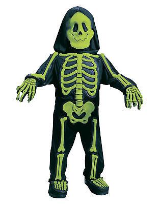 Green Totally Skelebones Skeleton Toddler Halloween Costume - Small