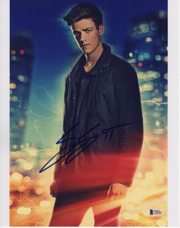 GRANT GUSTIN SIGNED THE FLASH PHOTO 11X14 BARRY ALLEN AUTOGRAPH HUNK PSA BAS COA