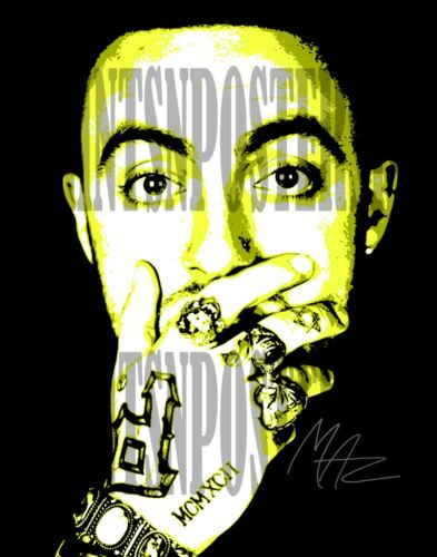 Mac Miller Rapper Singer 8x10 SIGNED REPRINT Photo/poster #2