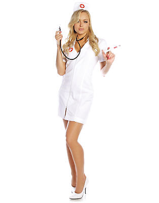 Hot Flash Sexy Nurse Adult Womens Halloween (Hot Flash Kostüm)