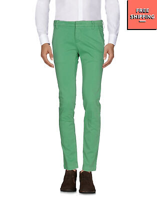 RRP €110 ENTRE AMIS Chino Trousers Size 30 Stretch Garment Dye Made in Italy