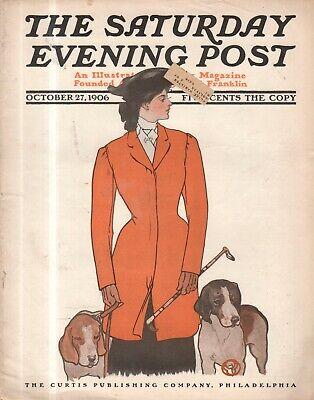 1906 Saturday Evening Post October 27 - Fox Hunt; Halloween;Harvey Dunn;Penfield](Saturday Evening Post Halloween)