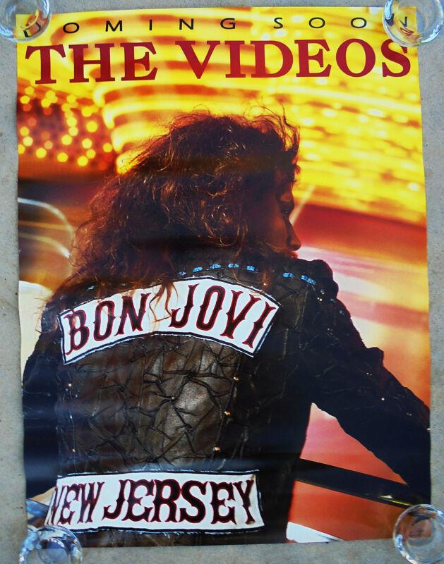 BON JOVI  -  NEW JERSEY:  THE VIDEOS -  ORIGINAL ROLLED ROCK PROMO POSTER (1989)
