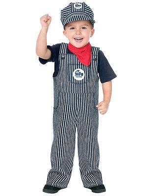 Fun World Toddler Train Engineer Halloween Costume, Dress-Up, - Train Costume Toddler