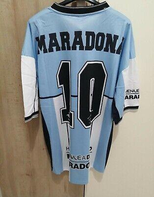 MAGLIA L CALCIO MARADONA 10 ADDIO AL CALCIO 2001 NAZIONALE ARGENTINA FILA...