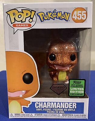 Funko Pop Pokemon Charmander #455 Diamond Collection ECCC 2021 Shared Exclusive