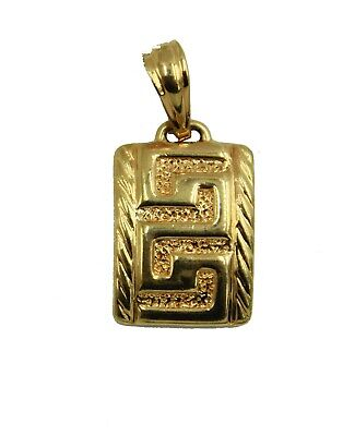 Greek Key Pendant 18k Gold Plated with 20 inch Chain - Greek Key -