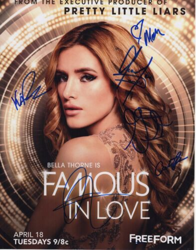 FAMOUS IN LOVE CAST SIGNED PHOTO 11X14 BELLA THORNE CHARLIE DEPEW AUTOGRAPH