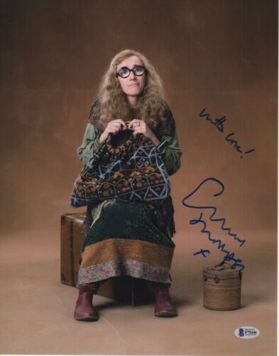 EMMA THOMPSON SIGNED HARRY POTTER PHOTO 11X14 AUTOGRAPH SYBILL PSA BAS COA 1