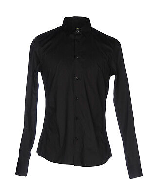 RRP€190 VERSACE JEANS Shirt Size 54 / XXL Stretch Black Long Sleeve Button Front