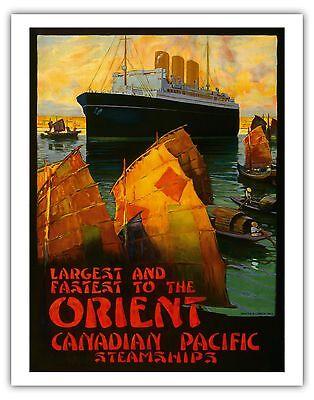 Orient Asia Sampan Steamship Vintage Ocean Liner Travel Art Poster Gicl E
