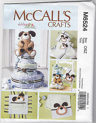 Mccall`s Burp Cloth, Pillows, Blanket, Toy, Sack Dog Pattern 6524