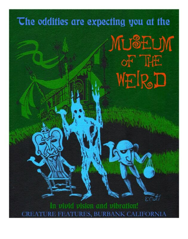 HAUNTED MANSION Museum of the Weird GICLEE ART Signed by ROLLY CRUMP #d/100 MINT