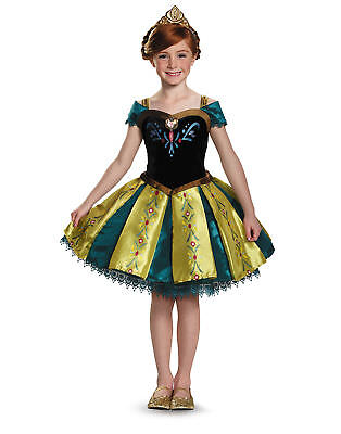 Anna Coronation Costume Frozen (Frozen Anna Coronation Tutu Child Girls Halloween)