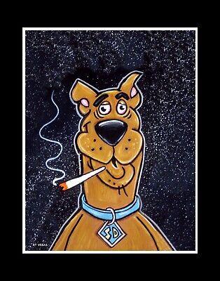 SCOOBY DOOBIE limited EDITION print RT VEGAS signed original marijuana doo