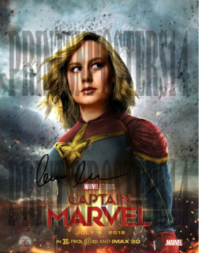 Brie Larson 11x14 SIGNED REPRINT Poster Captain Marvel #1