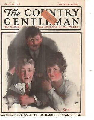 Country Gentleman Cover (1918 Country Gentleman Cover April 20 - At the Theater)