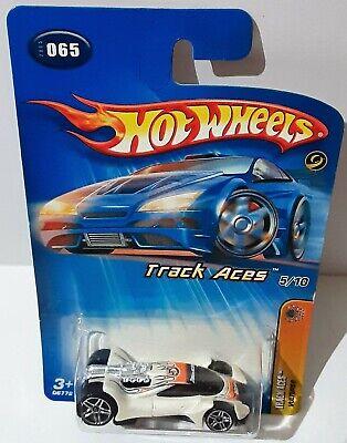 Hot Wheels Track Aces #065 Vulture - White w/5 Spoke Wheels