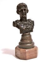 Statuina Mezzo Busto In Bronzo Cesare Ottaviano Augusto Imperatore Base In Legno -  - ebay.it