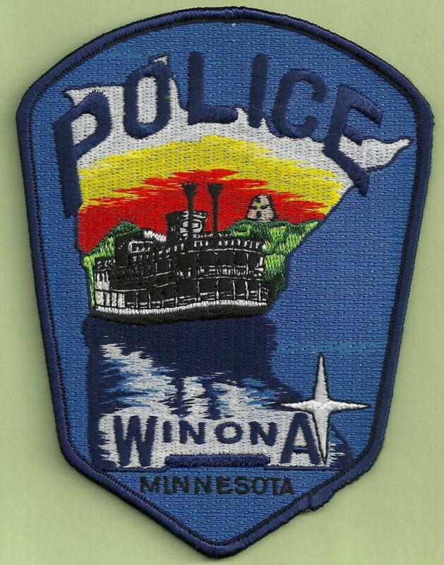 WINONA MINNESOTA POLICE SHOULDER PATCH RIVER STEAMBOAT!