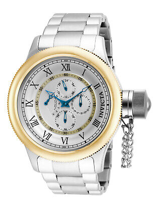 Invicta Russian Diver 52mm GMT Retrograde Day 15932 Big Face Chronograph Swiss
