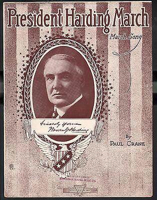 President Harding March 1920 Warren G Harding Sheet Music
