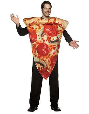 Lustig Pizza Scheibe Get Real Erwachsene Essen Halloween Kostüm - - Essen Halloween Kostüm