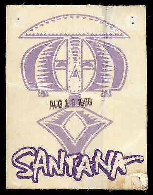 1998 AUG 19 CARLOS SANTANA BAND VINTAGE SANTA BARBARA CA BACKSTAGE TOUR PASS ()