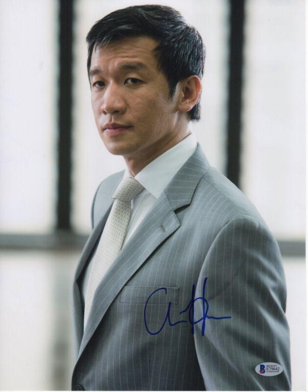 CHIN HAN SIGNED THE DARK KNIGHT PHOTO! 11X14 AUTOGRAPH PSA BAS 1