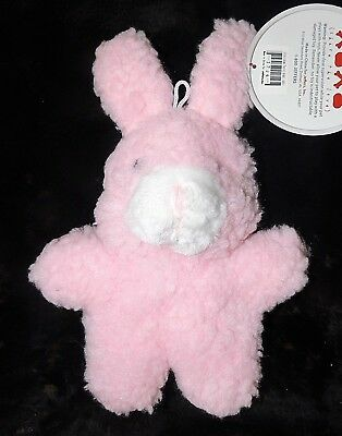 "11"" Soft Fleece Bunny Rabbit Squeak Happy Dog Play Toy (Share the Love) Pink NWT"