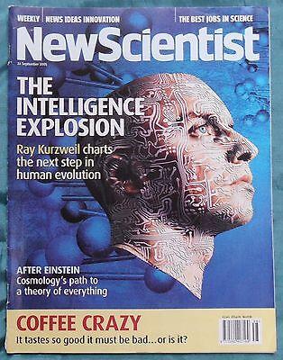 New Scientist No.2518, 24th Sept 2005, Ray Kurzweil, Cosmology, Coffee