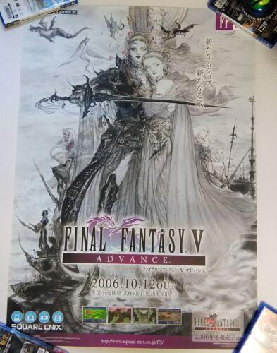 Rare Game Official Promo Poster FINAL FANTASY Ⅴ 5 ADVANCE Size B2 Game Boy Japan