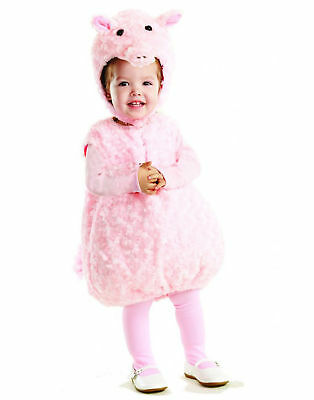 Pink Piglet Animal Pig Belly Babies Toddler Halloween - Baby Piglet Costume