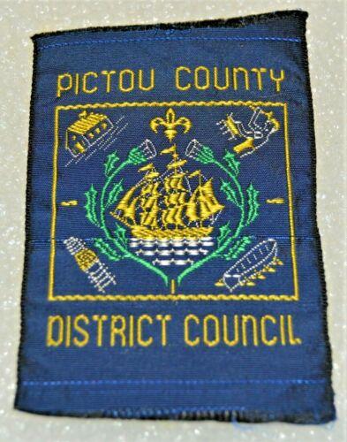 PICTOU COUNTY DISTRICT COUN. Ribbon Rectangle 51 x 65 mm Boy Scout Badge (NSP1E)