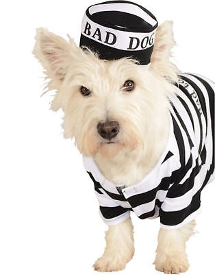 Prisoner Bad Dog Convict Criminal Halloween Pet Costume - Prisoner Halloween Costumes For Dogs